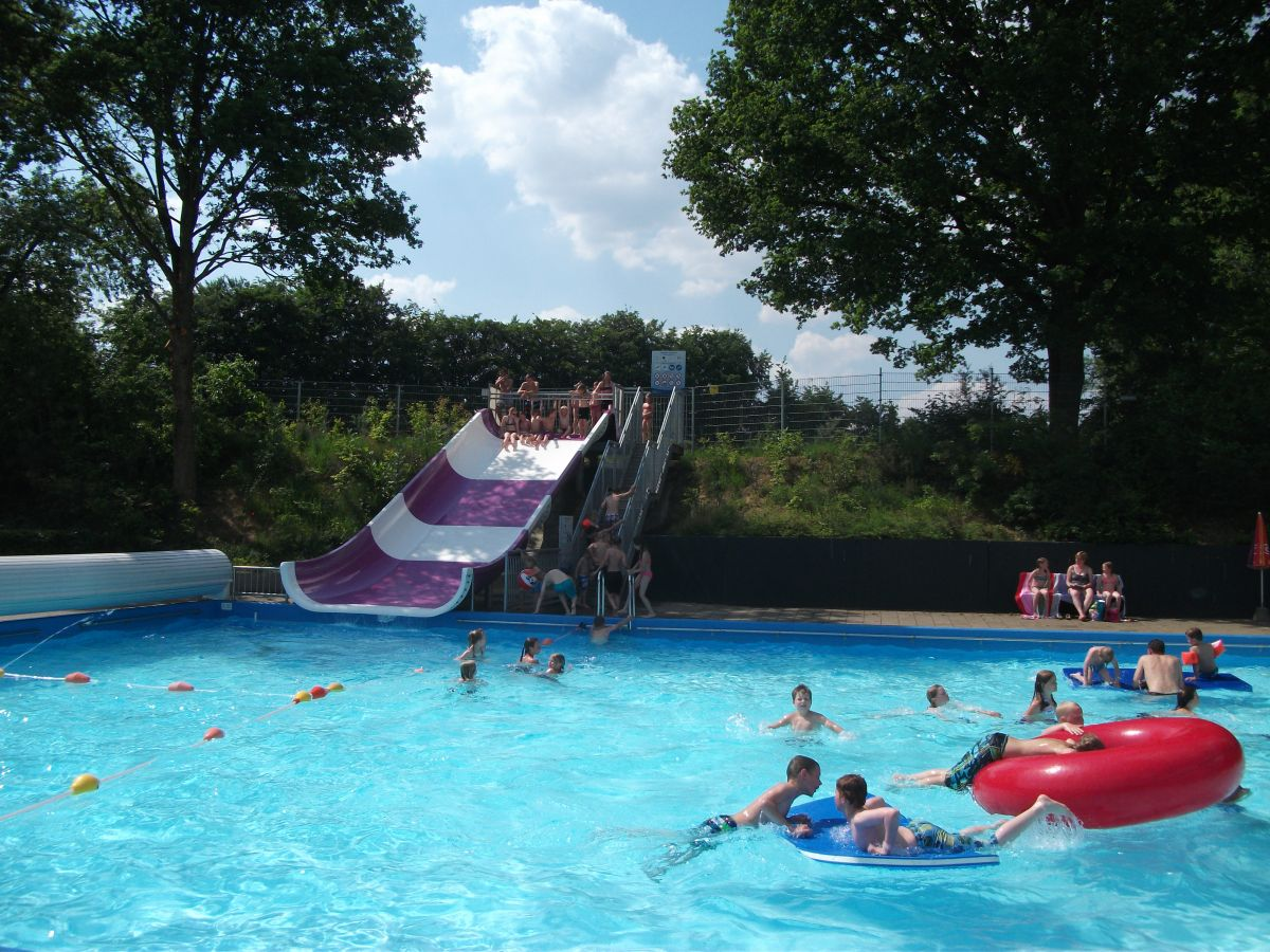Slide at the outdoor pool
